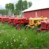 Tractors by the Barn