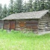 Originally a telegraph log home, later on a one room schoolhouse.