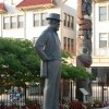Here is a statue of Charles Hays